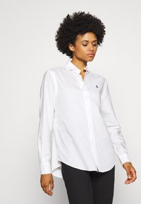 Polo Ralph Lauren - LONG SLEEVE BUTTON FRONT - Button-down blouse - white - 0