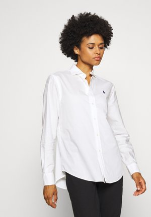 LONG SLEEVE BUTTON FRONT - Košile - white