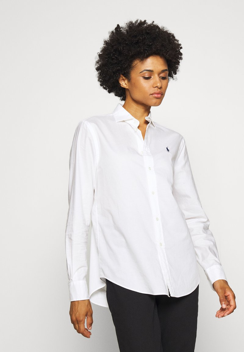 Polo Ralph Lauren - LONG SLEEVE BUTTON FRONT - Button-down blouse - white