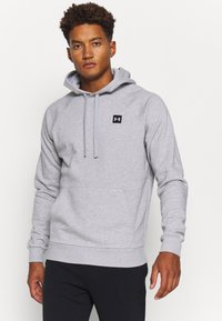 Under Armour - RIVAL  - Bluza z kapturem - mod gray light heather - 0