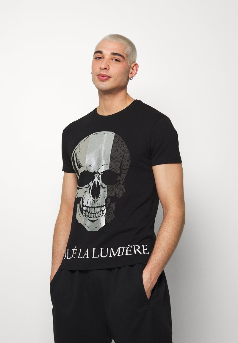 Volé la lumière - MULTI SKULL TSHIRT - T-shirt print - black