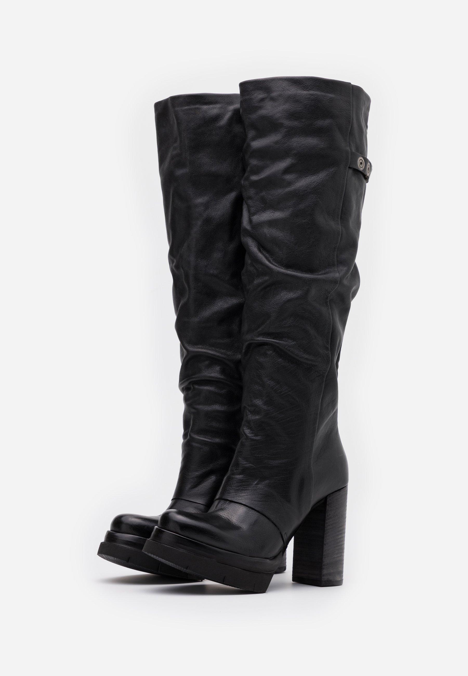 A.S.98 High Heel Stiefel nero/schwarz