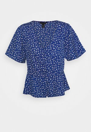 MINI BLAKE FLORAL SHAPE - Bluser - blue
