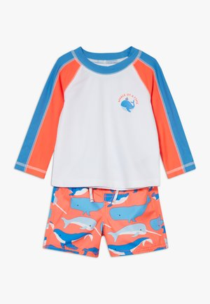 WHLE SWIM SET - Plavky - neon coral flame