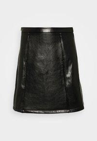 Anna Field - PU leather mini skirt - Minisukně - black - 4