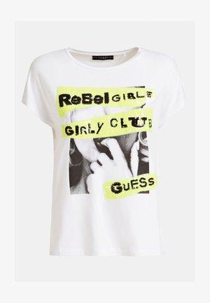 LOGO PAILLETTES SUR LE DEVANT - T-shirt con stampa - blanc