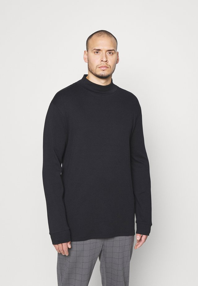 JEROME HIGH NECK - Topper langermet - black