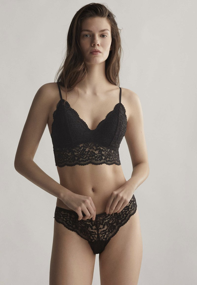 OYSHO - Triangle bra - black