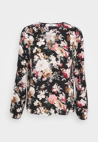 ONLY - ONLLARRY NECK TOP - Blouse - black - 0