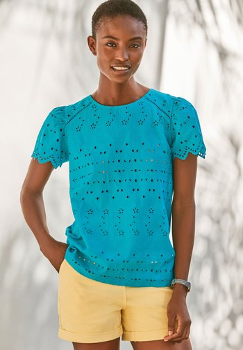 BRODERIE - Blouse - teal