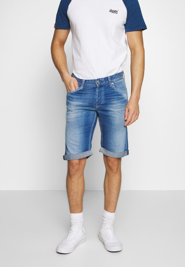 SCOTT - Shorts di jeans - deep indigo