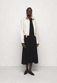 Proenza Schouler White Label - CUT OUT BACK KNIT DRESS - Jumper dress - black - 1