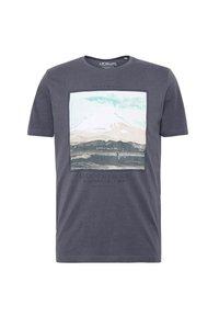 T-shirt med print - ebony