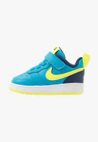 Nike Sportswear - COURT BOROUGH 2 - Matalavartiset tennarit - midnight navy/lemon/black/anthracite - 1