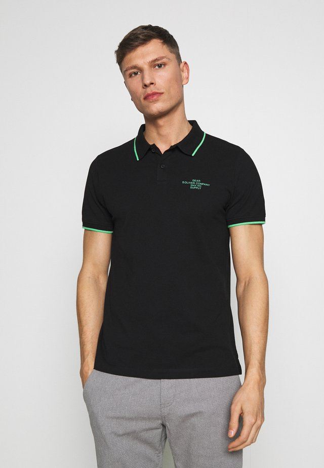 T-SHIRT KURZARM - Polo - black