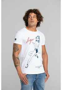 Liger - LIMITED TO 360 PIECES - JASON BROOKS - PIN UP - Print T-shirt - white - 2