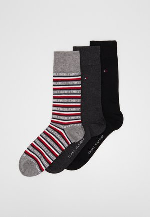 MEN SOCK LOGO GIFTBOX 3 PACK - Skarpety - black/red