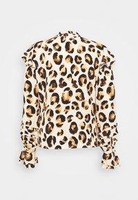 Fabienne Chapot - LEO FRILL BLOUSE - Long sleeved top - beige/black/brown - 7