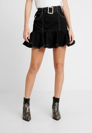 Denimová sukně - black