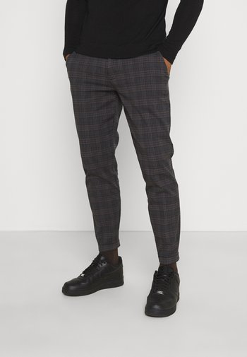 ERCAN CROPPED PANTS - Chino - dover check