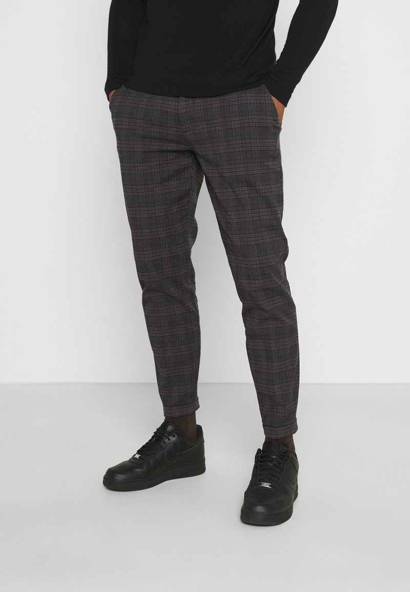 Redefined Rebel - ERCAN CROPPED PANTS - Chinos - dover check