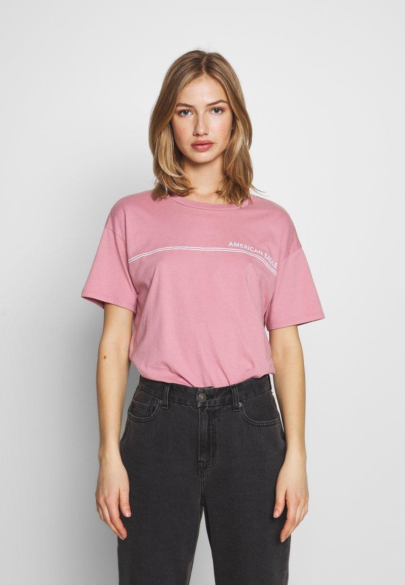 American Eagle - BRANDED SANTA MONICA TEE - Print T-shirt - lively lilac