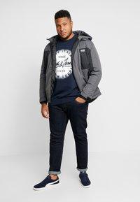 Jack & Jones - JORSPRAYED CREW NECK - Sweatshirt - navy blazer - 1