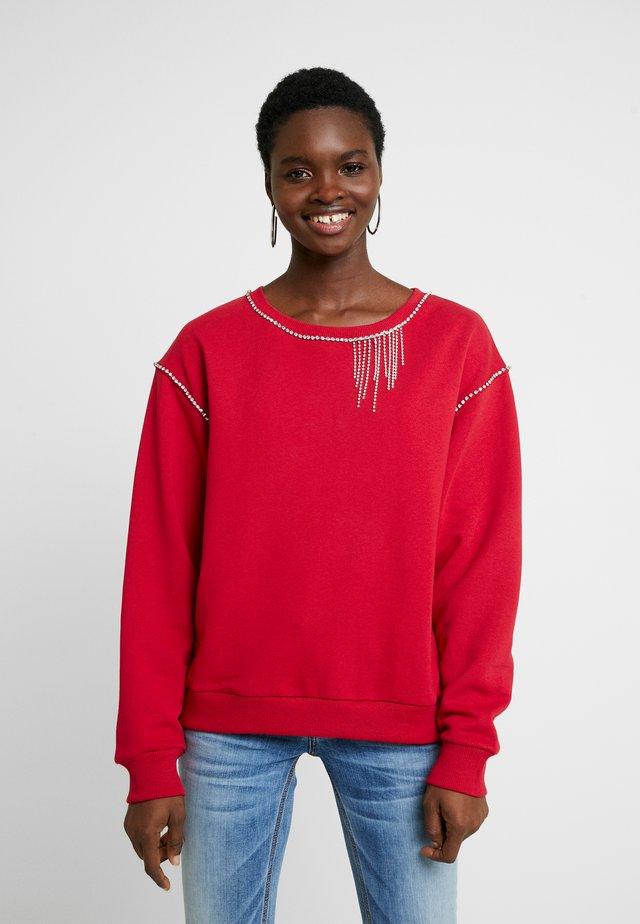 FELPA CHIUSA - Sweatshirts - ciliegia