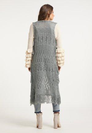 Waistcoat - dunkelgrau melange