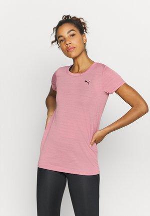 STUDIO KEYHOLE TEE - Sports shirt - foxglove