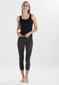 FALKE - FALKE COTTON TOUCH LEGGINGS BLICKDICHT GLATT - Leggings - Stockings - grigio - 3