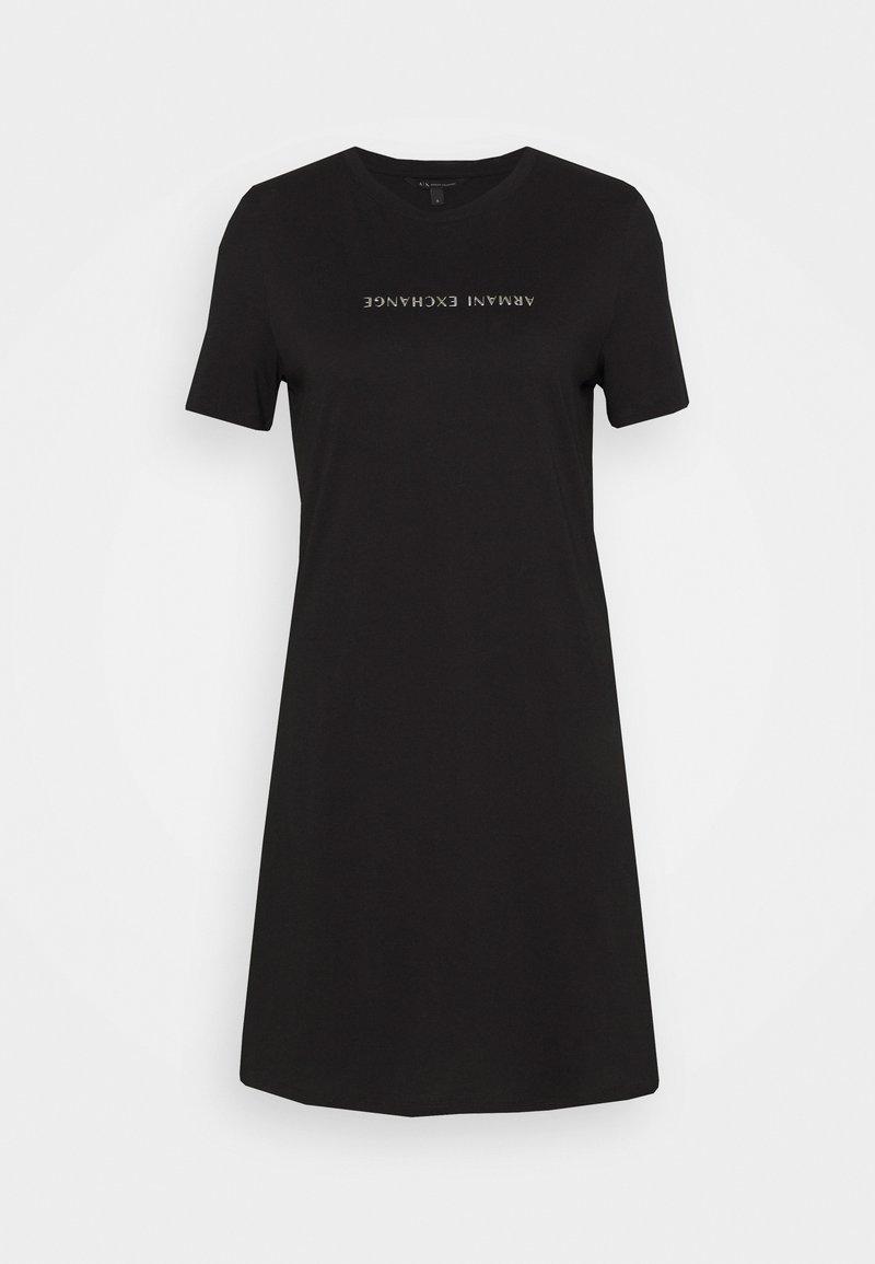 Armani Exchange - VESTITO - Jersey dress - black