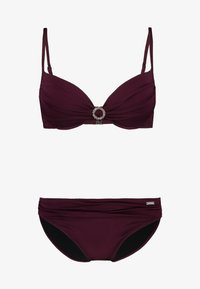 LASCANA - PUSH UP SET - Bikini - bordeaux