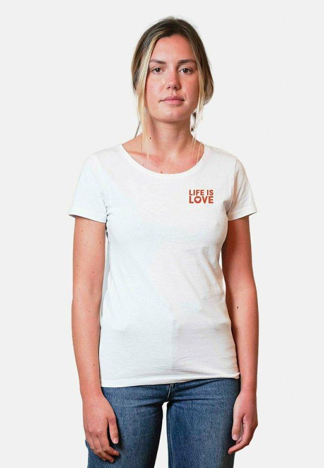 LIFE - T-shirts print - white