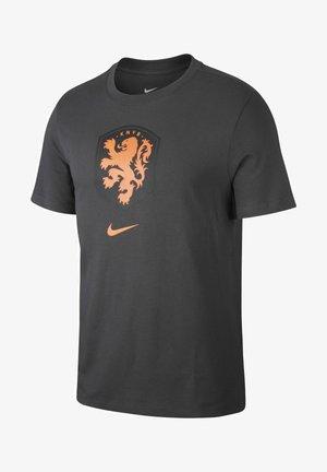 NIEDERLANDE - T-shirt med print - anthracite