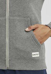 Oxmo - BINJA - Zip-up hoodie - grey melange - 4