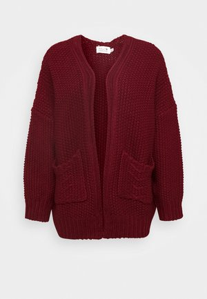 LADIES CARDIGAN - Kardigan - dark red
