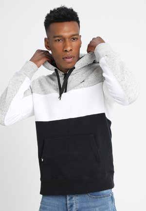 ATHLETIC COLORBLOCK - Hoodie - grey