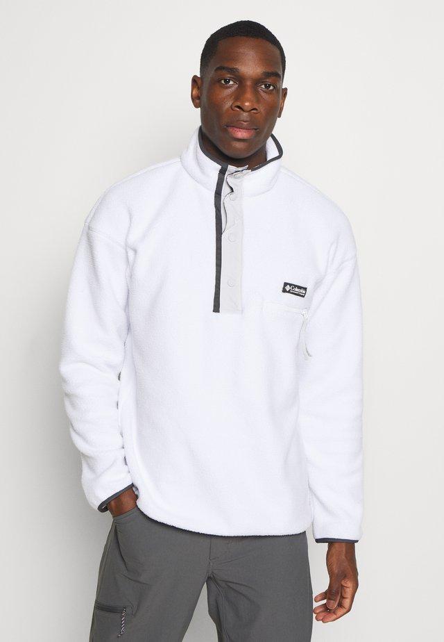 HELVETIA™ HALF SNAP - Fleece jumper - white/nimbus grey