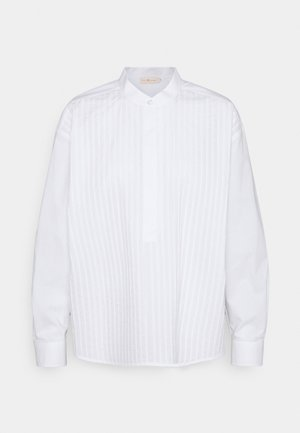POPLIN PLEATED - Košile - white