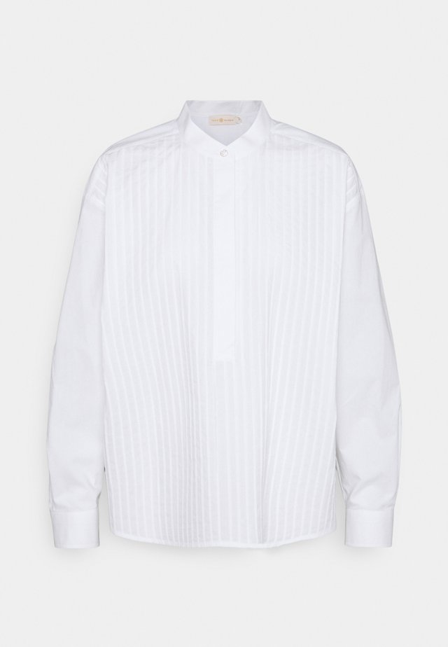 POPLIN PLEATED - Chemisier - white