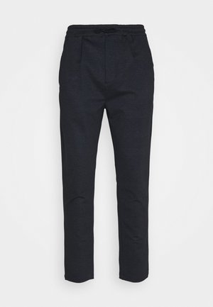CLUB JOGGER TEXTURE PANTS - Trousers - navy check