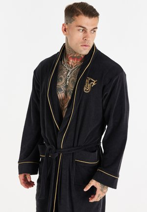 DRESSING GOWN - Dressing gown - black/gold-coloured