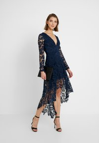 Love Triangle - FRENCH ROSE HIGH LOW DRESS - Cocktail dress / Party dress - navy - 1