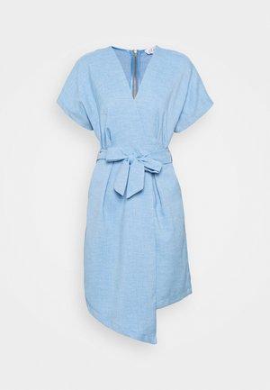 KIMONO MINI DRESS - Sukienka letnia - blue