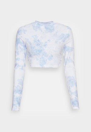 SIGNATURE TIE DYE CROPPED - Long sleeved top - white