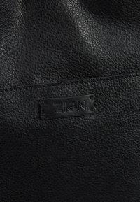 Zign - UNISEX LEATHER - Shopping bags - black - 5