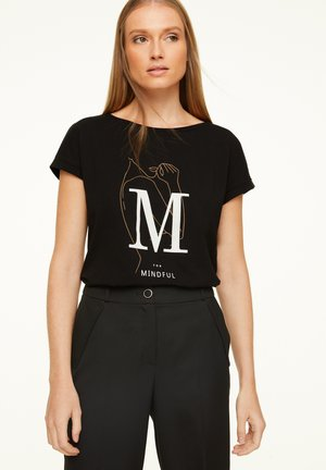 MIT STATEMENT-WORDING - Print T-shirt - black placed print