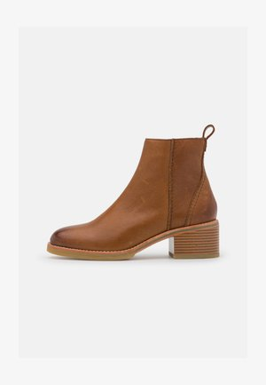 COLOGNE ZIP - Ankle boots - dark tan