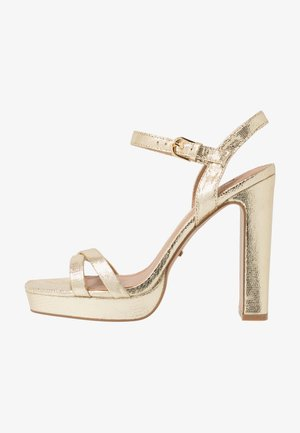SIENNA PLATFORM - High heeled sandals - gold